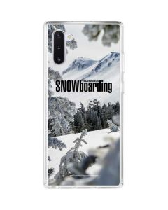 TransWorld SNOWboarding Peaking Galaxy Note 10 Clear Case