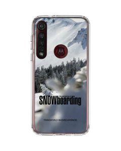 TransWorld SNOWboarding Peaking Moto G8 Plus Clear Case