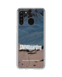 TransWorld SNOWboarding Shadows Galaxy A21 Clear Case