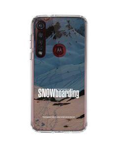 TransWorld SNOWboarding Shadows Moto G8 Plus Clear Case