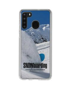 TransWorld SNOWboarding Shred Galaxy A21 Clear Case