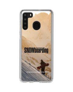 TransWorld SNOWboarding Sunset Galaxy A21 Clear Case
