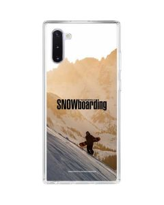 TransWorld SNOWboarding Sunset Galaxy Note 10 Clear Case
