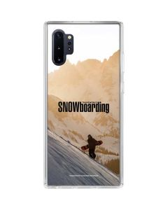 TransWorld SNOWboarding Sunset Galaxy Note 10 Plus Clear Case