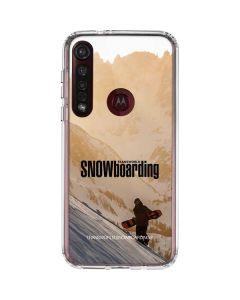 TransWorld SNOWboarding Sunset Moto G8 Plus Clear Case