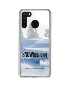 TransWorld SNOWboarding Trees Galaxy A21 Clear Case