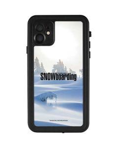 TransWorld SNOWboarding Trees iPhone 11 Waterproof Case