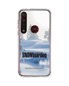 TransWorld SNOWboarding Trees Moto G8 Plus Clear Case