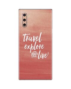 Travel Explore and Live Galaxy Note 10 Skin