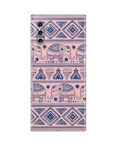 Tribal Elephant Pink Galaxy Note 10 Skin