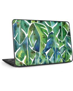 Tropical Leaves HP Chromebook Skin