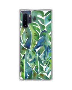 Tropical Leaves Galaxy Note 10 Plus Clear Case