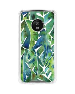 Tropical Leaves Moto G5 Plus Clear Case