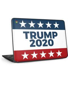 Trump 2020 Red White and Blue HP Chromebook Skin