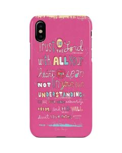 Trust in the Lord Pink iPhone XS Max Lite Case