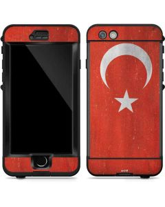 Turkish Flag Distressed LifeProof Nuud iPhone Skin