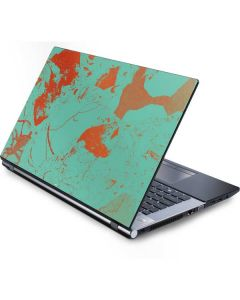 Turquoise and Orange Marble Generic Laptop Skin