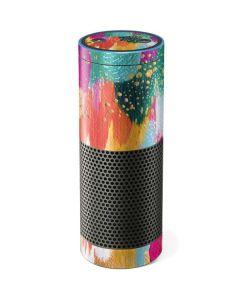 Turquoise Brush Stroke Amazon Echo Skin
