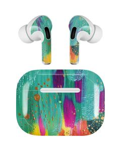 Turquoise Brush Stroke Apple AirPods Pro Skin