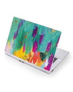 Turquoise Brush Stroke Acer Chromebook Skin