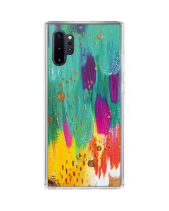 Turquoise Brush Stroke Galaxy Note 10 Plus Clear Case