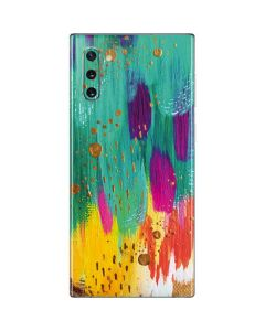 Turquoise Brush Stroke Galaxy Note 10 Skin
