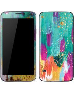 Turquoise Brush Stroke Galaxy S5 Skin