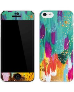 Turquoise Brush Stroke iPhone 5c Skin