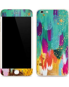 Turquoise Brush Stroke iPhone 6/6s Plus Skin