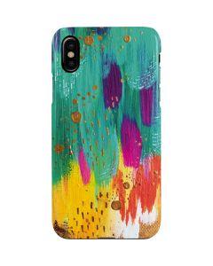 Turquoise Brush Stroke iPhone XS Max Lite Case