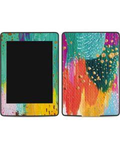 Turquoise Brush Stroke Amazon Kindle Skin