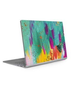 Turquoise Brush Stroke Surface Book 2 13.5in Skin
