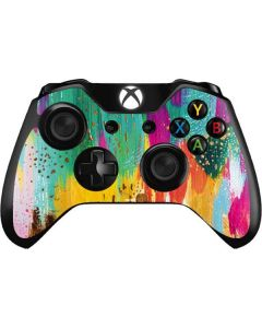 Turquoise Brush Stroke Xbox One Controller Skin