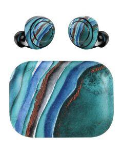 Turquoise Watercolor Geode Amazon Echo Buds Skin