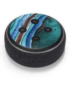 Turquoise Watercolor Geode Amazon Echo Dot Skin
