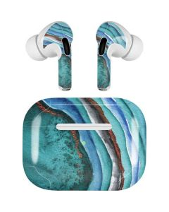 Turquoise Watercolor Geode Apple AirPods Pro Skin