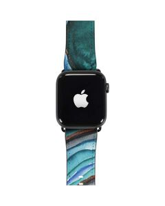 Turquoise Watercolor Geode Apple Watch Band 42-44mm