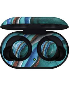 Turquoise Watercolor Geode Galaxy Buds Skin