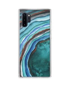 Turquoise Watercolor Geode Galaxy Note 10 Plus Clear Case