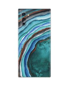 Turquoise Watercolor Geode Galaxy Note 10 Skin