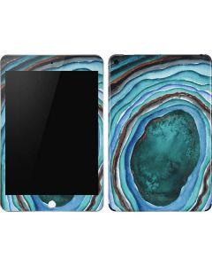 Turquoise Watercolor Geode Apple iPad Mini Skin
