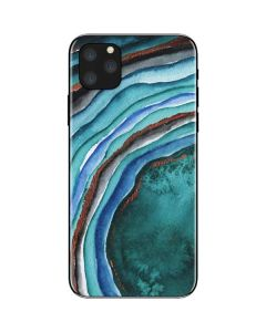 Turquoise Watercolor Geode iPhone 11 Pro Max Skin
