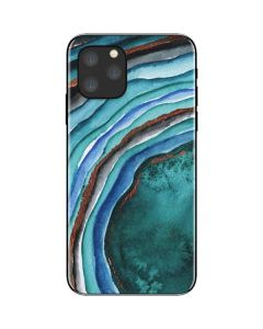 Turquoise Watercolor Geode iPhone 11 Pro Skin