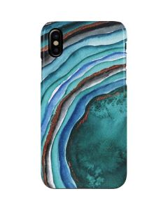 Turquoise Watercolor Geode iPhone XS Max Lite Case