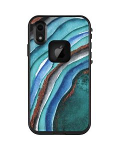 Turquoise Watercolor Geode LifeProof Fre iPhone Skin