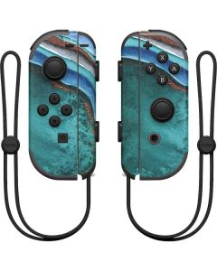 Turquoise Watercolor Geode Nintendo Joy-Con (L/R) Controller Skin