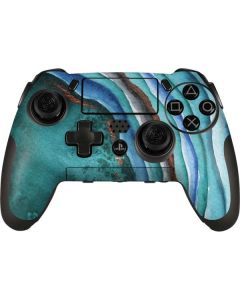 Turquoise Watercolor Geode PlayStation Scuf Vantage 2 Controller Skin