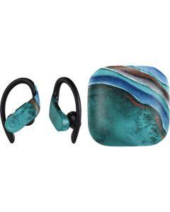 Turquoise Watercolor Geode PowerBeats Pro Skin