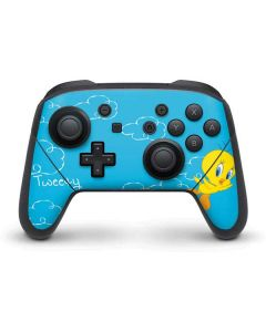 Tweety Bird Flying Nintendo Switch Pro Controller Skin