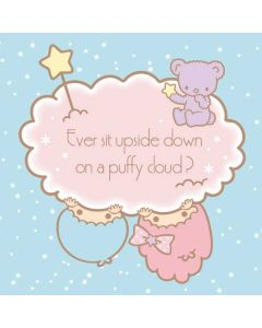Little Twin Stars Puffy Cloud Galaxy Book Keyboard Folio 12in Skin